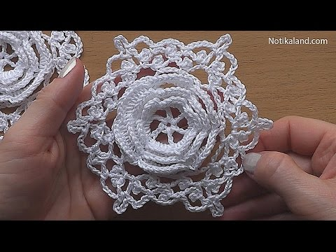 Crochet Flower Motif Hexagon Easy Pattern Tutorial Part 1 Crochet