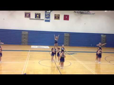 2012 Lovell Wyoming cheer squad homecoming routine