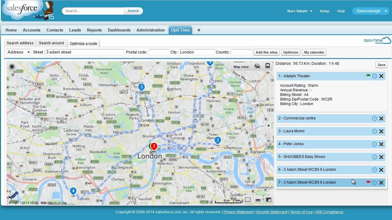 Salesforce Field Service Management : Opti time cloud tour app field service management for