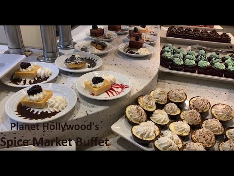 Eating At Planet Hollywood Spice Market Buffet Las Vegas For Less Than $15! / Review