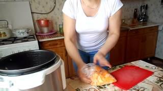 Курица с тыквой в мультиварке