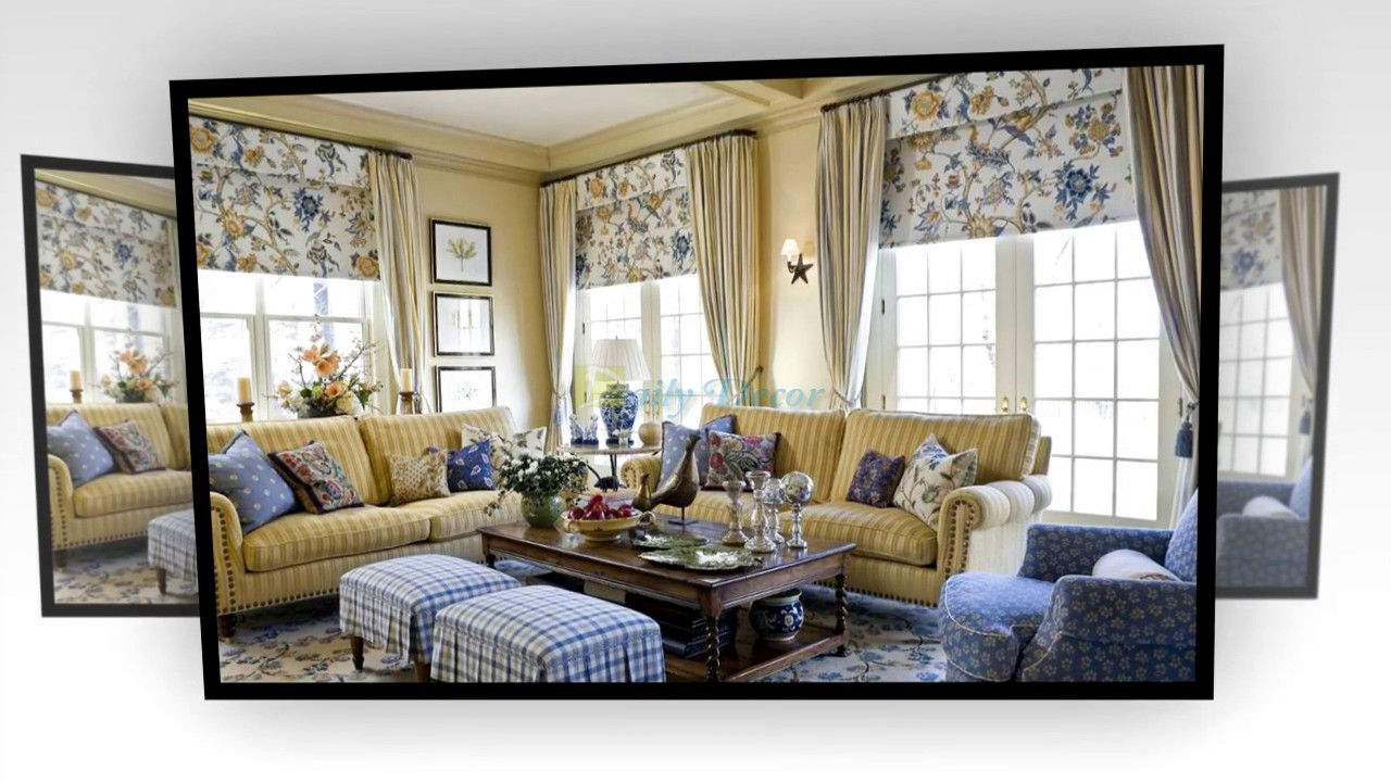 Daily Decor] Country Living Room Curtains - YouTube