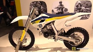 2015 Husqvarna TC 85 Motocross Bike - Walkaround - 2014 EICMA Milan Motorcycle Exhibition