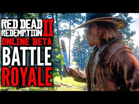 RED DEAD REDEMPTION 2 Online BATTLE ROYALE Throwing Knives Gameplay (Make It Count)
