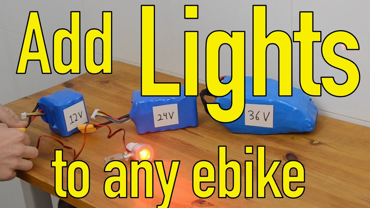 How To Add Any Led Lights An Electric Bicycle Youtube Bike Light Circuit Project