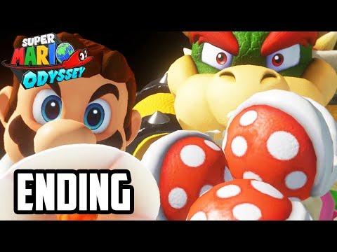 SUPER MARIO ODYSSEY ENDING GAMEPLAY - Final Boss + Cutscene + Ending Reaction!