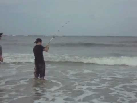 Fishing at vilano beach st augustine florida youtube for Fishing st augustine