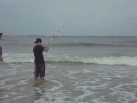 5 ft bull shark surf fishing beach doovi for St augustine fishing spots