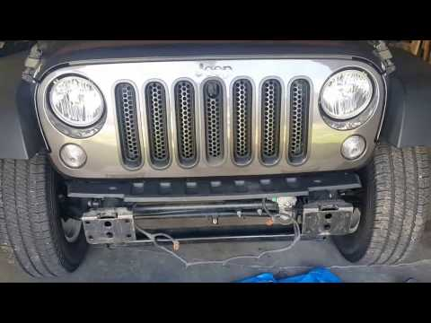 How To Remove A Jeep JK Front Bumper And Install An Aftermarket Bumper