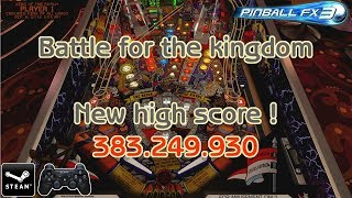 Pinball FX3: Battle for the kingdom, new high score ! - Medieval Madness / Steam PC version