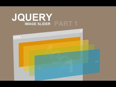 Jquery Image Slider Tutorial - Part 1 - YouTube