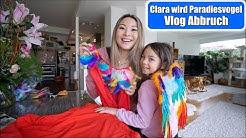 Clara wird Paradies Vogel 😍 VLOG Abbruch! Faschings Kostüm basteln | Asia Markt Haul | Mamiseelen