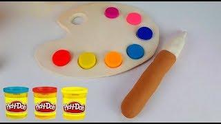 PLAY-DOH Palette de Peinture  Facile et Amusant ! Apprendre les Couleurs