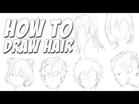 Как рисовать Волосы (Аниме стиль)