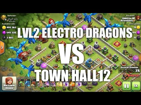 TH11 LVL2 ELECTRO DRAGON ATTACK STRATEGY   OVER POWERFUL   BY GAMESTERS ADDA  