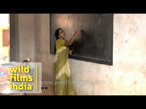 Mathematics class in Kerala higher secondary school
