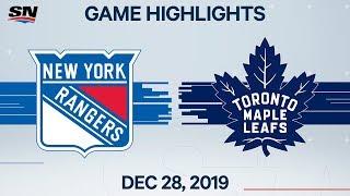 NHL Highlights   Rangers vs. Maple Leafs - Dec. 28, 2019