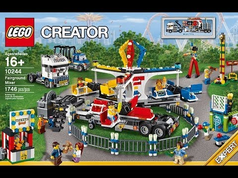 LEGO Designer Video: Carnival Fairground Mixer Set #10244 - YouTube