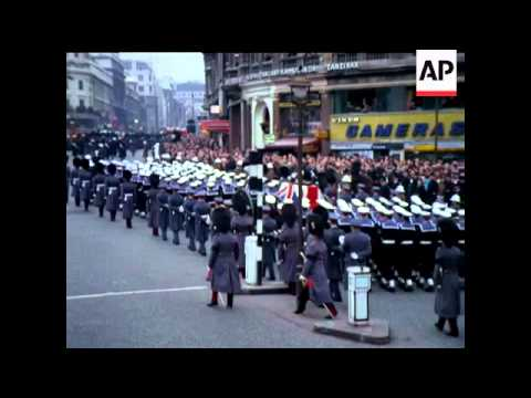 THE STATE FUNERAL OF SIR WINSTON CHURCHILL  - COLOUR - NO SOUND