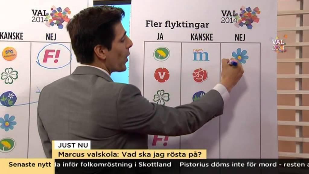 Marcus Oscarssons guide till vilket parti du ska rösta på - Nyhetsmorgon (TV4)