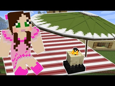 Minecraft: OUTDOOR FURNITURE! (PICNIC BASKET, BLANKET, UMBRELLA, & MORE!)!) Command Creation