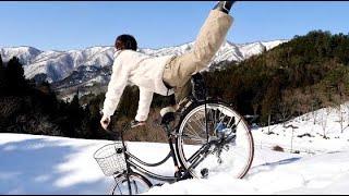 雪山で誰が一番長く滑れるのか選手権!!!!