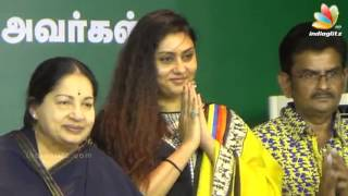 Actress Namitha joins AIADMK in presence of Jayalalithaa at Trichy