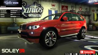 BMW X5 E53 2005 GTA V car mod tuning !!