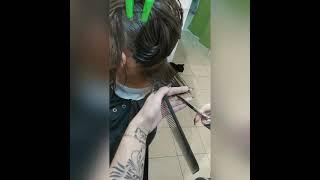 БОБ КАРЕ на удлинение Подстричься в Броварах Women s haircut KARE Салон красоты La Familia