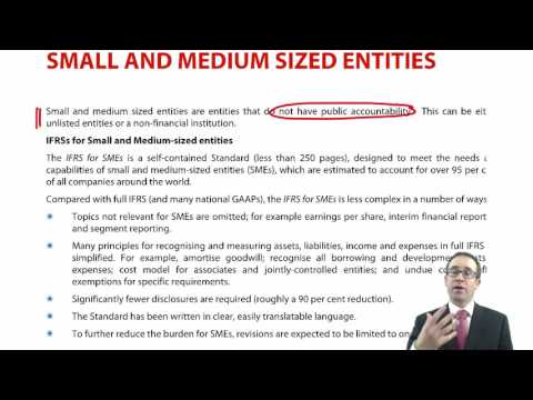 ACCA P2 Small and medium sized entities