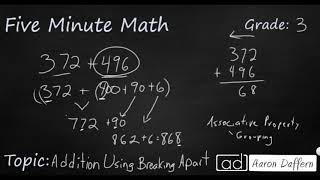 3rd Grade Math Addition Using Breaking Apart
