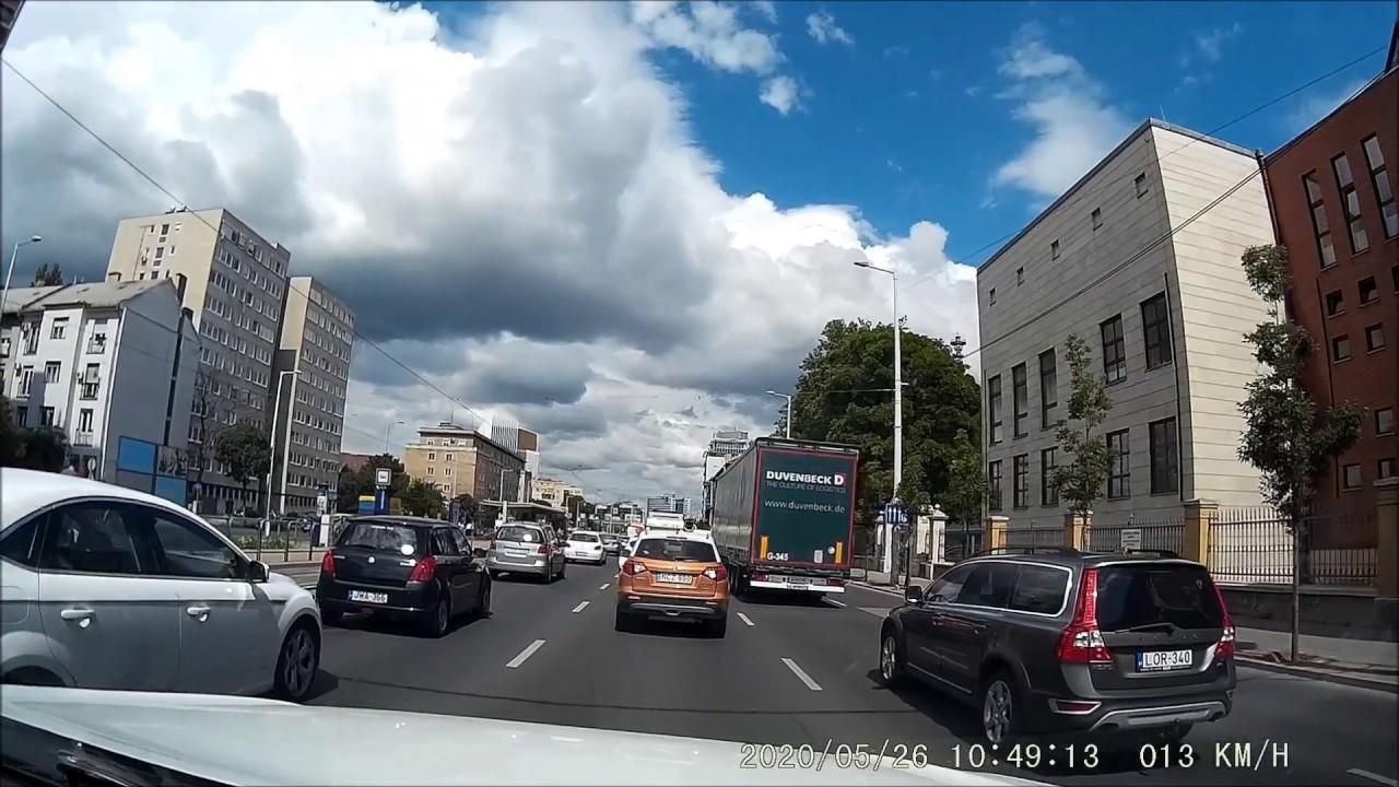 Róbert Károly körút - Árpád híd: Angyalföld - District XIII. BUDAPEST Hungary Trams, Trucks, Traffic