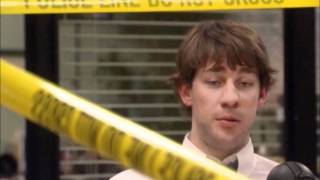 Dwight Finds His Desk Wrapped in Police Tape