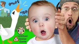 BAD MOUTH BIRD!  No Say Those WORDS! (FGTeeV plays Untitled Goose Game #1) Video