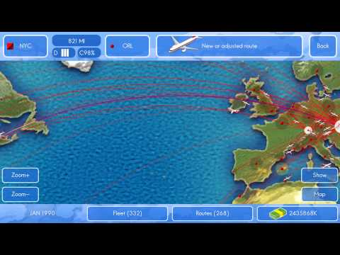 Building a transatlantic hub in Airline Director