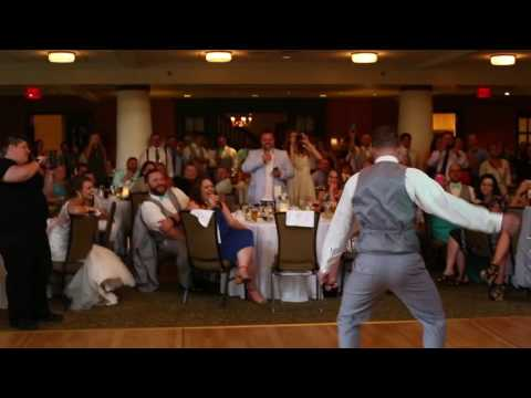 Groom and his mother stun wedding party; hit the quan, cat daddy, stanky leg & crank dat