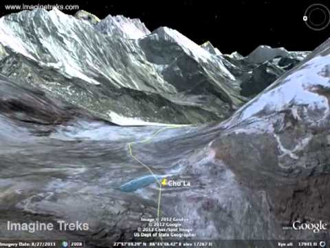 Google Earth Tour - Everest Base Camp trek via Gokyo and Cho La