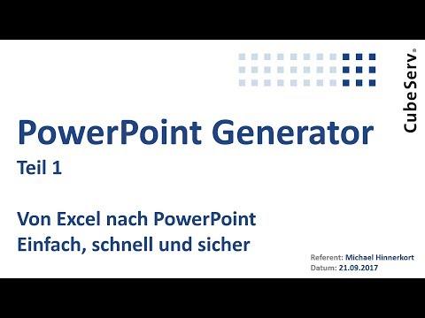 CubeServ PPT Generator Teil 1 V2. Von Excel nach PowerPoint - einfach, schnell und sicher