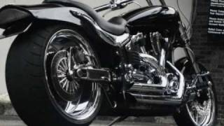 Yamaha Warrior Pro Street Fat Tire Custom Gypsy Bikes exhaust sound clip Pictures