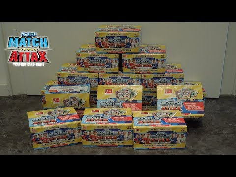 Match Attax 2017 2018 4 Display 144 Booster 1440 Karten Topps 17 18 Unboxing