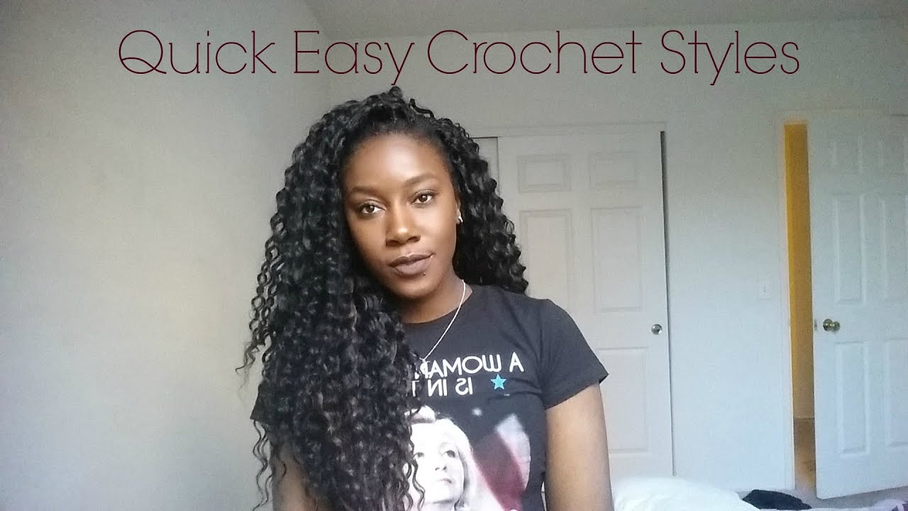 Quick Easy Everyday Styles for Crochet Braids - YouTube