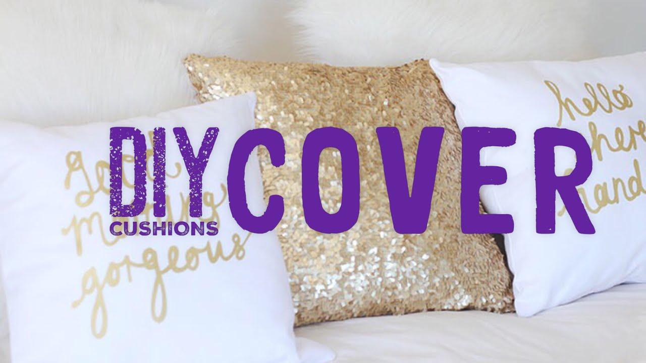 diy how to make diy cushion cover ideas diy cushion covers diy cushion covers no sew youtube. Black Bedroom Furniture Sets. Home Design Ideas