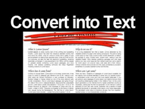 [SOLVED]- Convert a Photo to Text for FREE - OCR - Learn how to convert a jpg into text