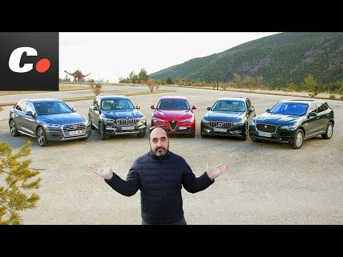 BMW X3, Volvo XC60, Alfa Romeo Stelvio, Audi Q5, Jaguar F-Pace   Prueba SUV 2018   coches.net
