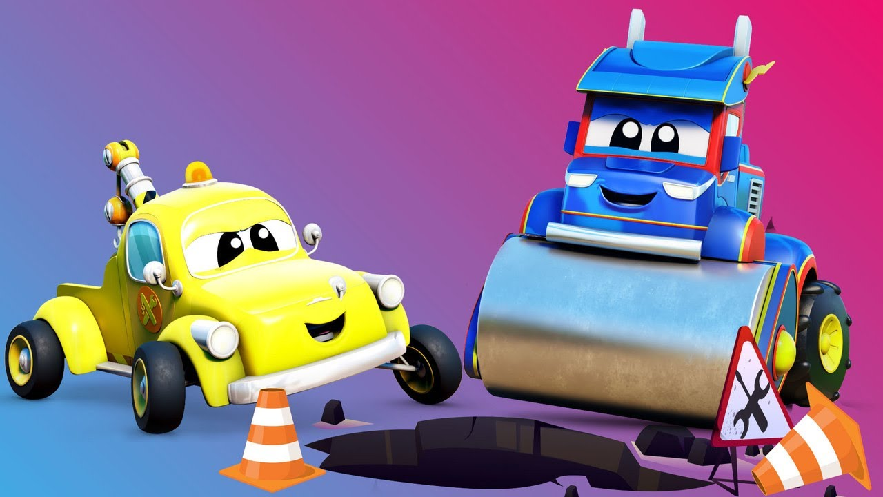 Road Repair with SUPERTRUCK and Tom! | InvenTom The Tow Truck | Car City World App