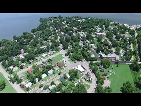 Aerial Views of City Point Park & Historical District - Hopewell, Va