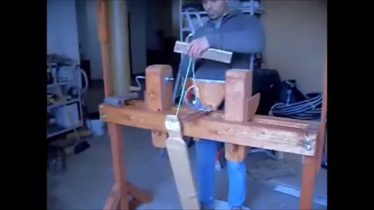 Costruzione del tornio per legno pole lathe youtube for Costruire un tornio per legno