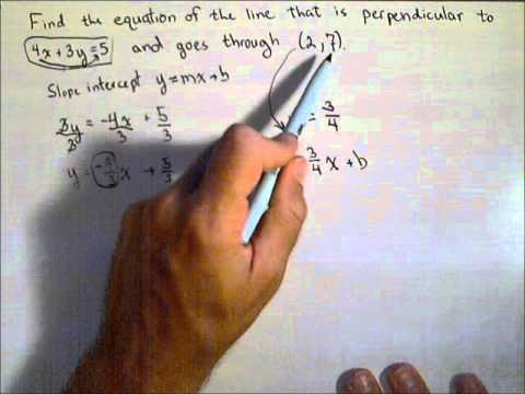 Finding a Line Perpendicular to Given Line