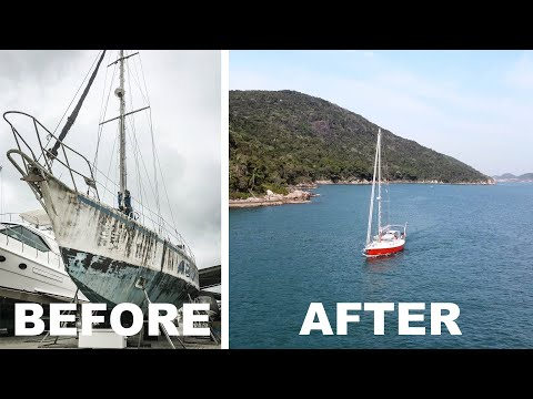 ⛵️After 22 years abandoned it's FINALLY time to untie the lines!! #195