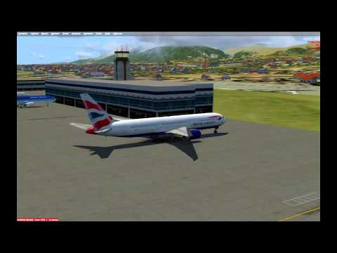 [P3D] Leg 2. Caribbean Tour. Port Au Prince Haiti to San Juan Puerto Rico in Capt Sim's 767